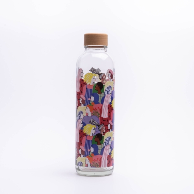 Glass drinking bottle CARRY 0.7 l INCLUSIVE