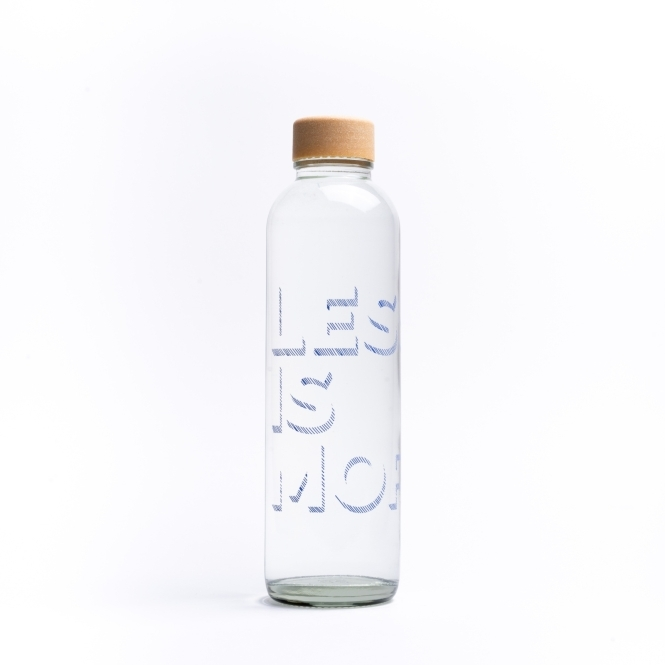 Glass drinking bottle CARRY 0.7 l LESS IS MORE