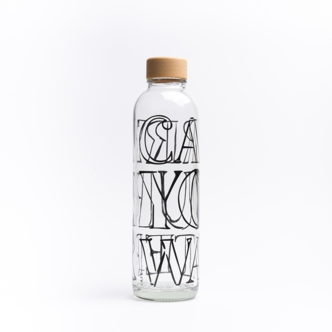 Glass drinking bottle CARRY 0.7 l CARRY YOUR WATER