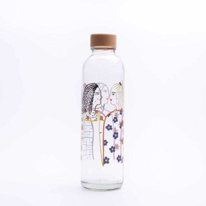 Glass drinking bottle CARRY 0.7 l SOUL SISTERS