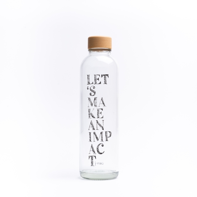 Glass drinking bottle CARRY 0.7 l IMPACT